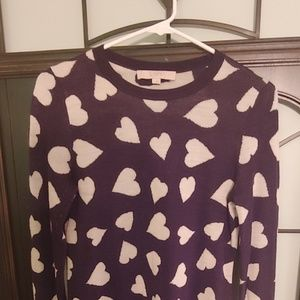 LOFT - Hearts Sweater